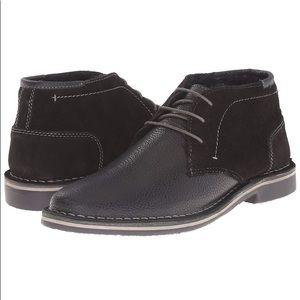 Steve Madden Henrie-F Chukka Black Leather Boot